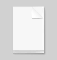 stack of blank papers on grey background for vector image vector image