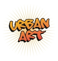 Urban art and graffiti design vector image