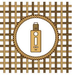 Vaporizer electric cigarette lasso rope vector