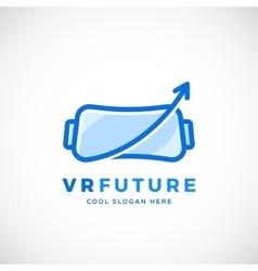 Virtual reality future abstract sign vector