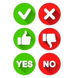 Yes and no icons vector