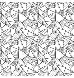 Abstract seamless pattern doodle vector