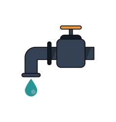 Isolated tap with water drop design vector