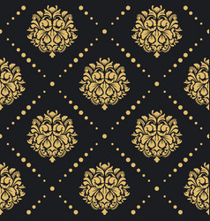 Victorian baroque pattern vector