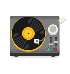 Vinyl player flat vector