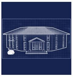 Blueprint villa vector
