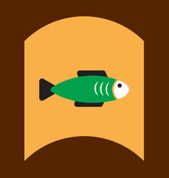 Flat icon design collection fish silhouette vector
