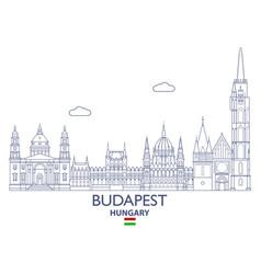 Budapest city skyline vector
