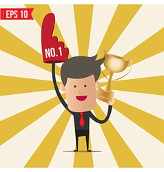 Business man show number one - - eps10 vector
