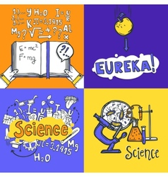 Science design concept vector