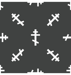 Crucifix pattern vector