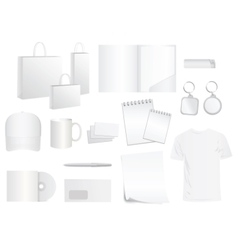 White design templates for brand style vector