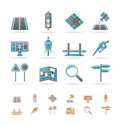Navigation and travel icons vector
