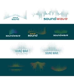 Sound waves logo vector