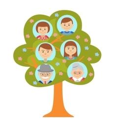 Cartoon generation family tree isolated on white vector