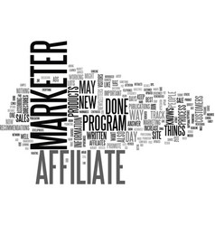 a day in the life of an affiliate marketer text vector image vector image