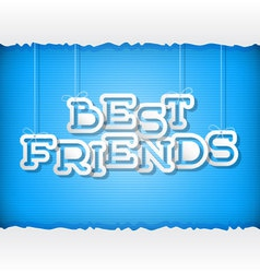Best Friends vector image vector image