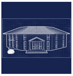 Blueprint villa vector