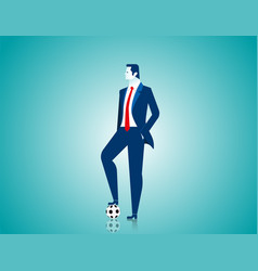 businessman with football vector image