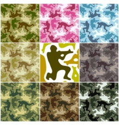 Camouflage set vector