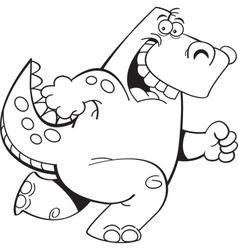 Cartoon Running Dinosaur vector image