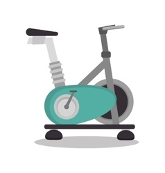 Cartoon stationary bicycle sport elements design vector