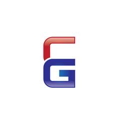 cg letter logo vector image