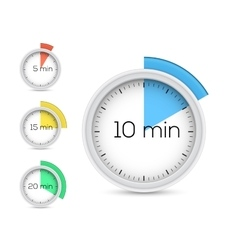 Collection of timers vector image vector image