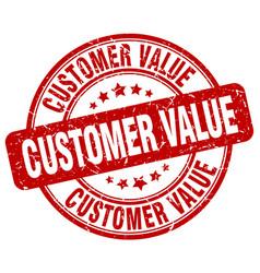 Customer value red grunge stamp vector