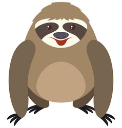 Cute sloth with round body vector