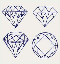 Diamond vector image vector image