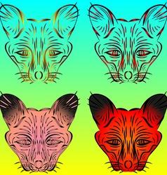 Fox and chanterelles vector