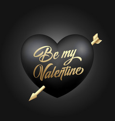 golden modern typography valentines day greetings vector image