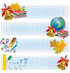 Horizontal school banners vector