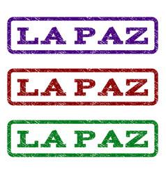 la paz watermark stamp vector image