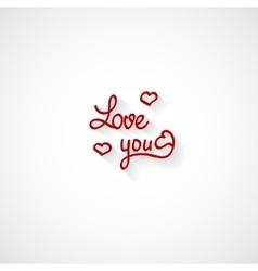 Love you lettering valentine design vector