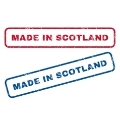 Made in scotland rubber stamps vector