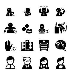 Office syndrome icon vector