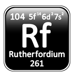Periodic table element rutherfordium icon vector