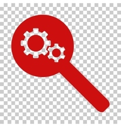 Search gears tool icon vector
