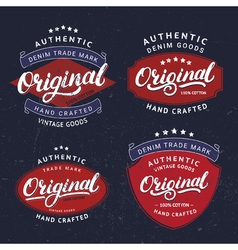 Set of originals hand written lettering for label vector
