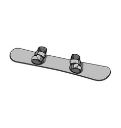 Snowboardextreme sport single icon in monochrome vector