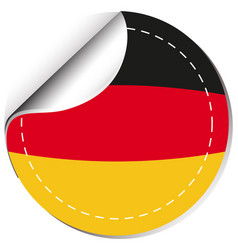 Sticker design for germany flag vector