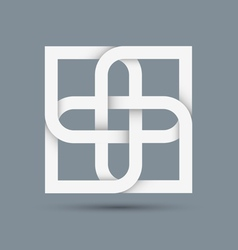 Stylized abstract white icon for design vector image vector image
