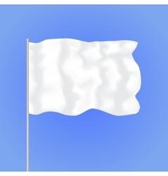 Template Blank White Flag vector image