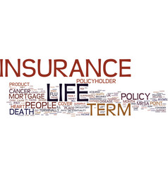 Term life insurance with return of premium text vector