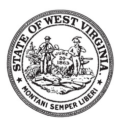 The seal of the state of west virginia vintage vector