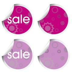 Purple stickers with sale vector