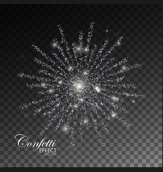 Glowing explode of sparkling particles vector