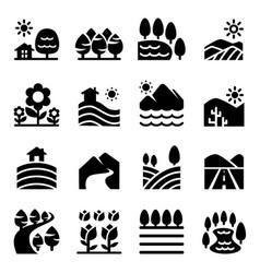 landscape icon vector image